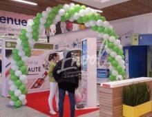 Arche torsadée en ballon Nantes Envol centre commerciaux