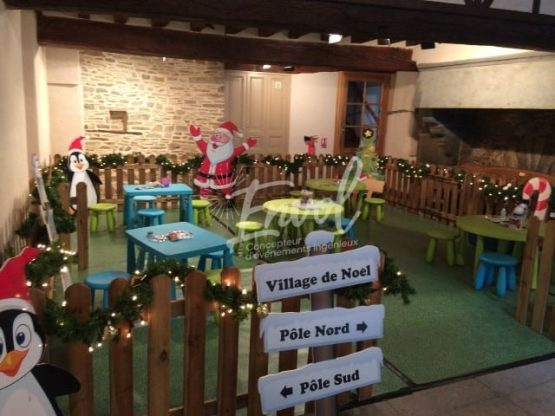 Espace atelier créatif de Noël