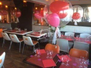 Bulles en ballons (décoration st valentin)