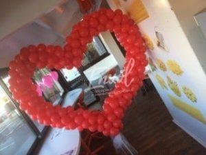 décoration st valentin en ballons