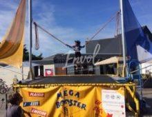 animation trampoline motorisé méga booster envol