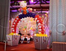 Décoration ballons sur le thème du cirque