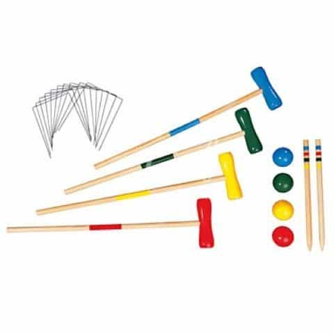Jeux de croquet en bois