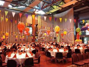 decor de repas thème cirque
