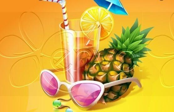 jeux gonflables,surf mécanique, danse tahitienne ou antillaise, jeu Limbo, le bar à fruit