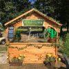 location de chalet en bois avec décors
