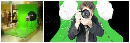 studio photo evnementiel fond vert