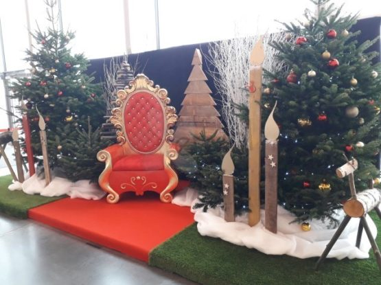 trône du père Noël