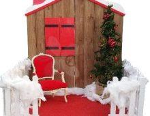 La maison du Père Noël (version blanche)
