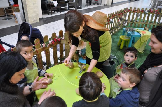 atelier jardinage pour enfants en magasin
