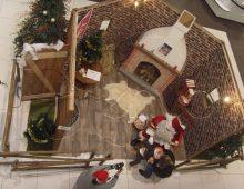 Location de décors de Noël pour un effet petit cabane en bois chaleureuse