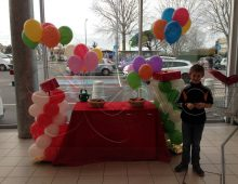 distribution de ballons helium