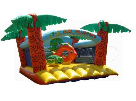 l 39 le aux palmiers location structure gonflable th me plage soleil. Black Bedroom Furniture Sets. Home Design Ideas