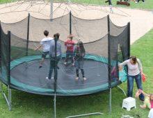 trampoline avec des filets