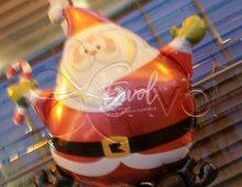 Décoration ballons, arche ballons, colonnes ballons en Père Noël