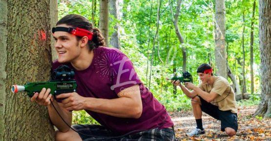 Team building laser game en plein air
