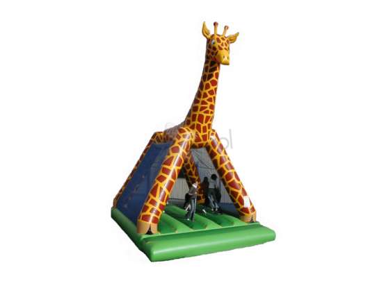 chateau gonflable girafe