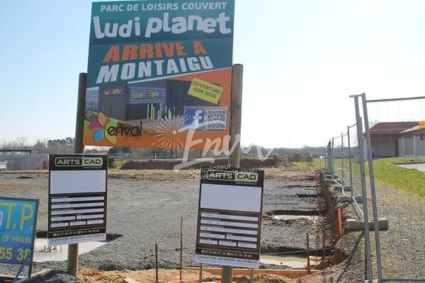 Parc LudiPlanet Montaigu en construction