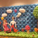 Mur de ballons en scène
