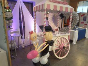 candy bar & mariés en ballons