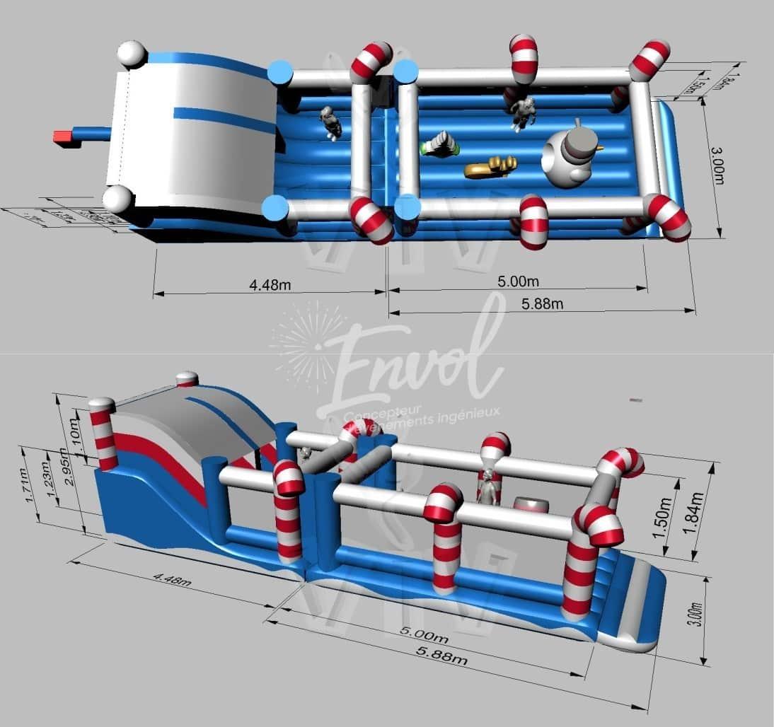 parcours gonflable de no l pour vos v nements de fin d 39 ann e. Black Bedroom Furniture Sets. Home Design Ideas