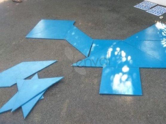 jeu en bois tangram géant