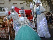 Échassiers blancs lumineux Envol Noël