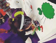 Atelier fresque enfants - coloriage enfants événements