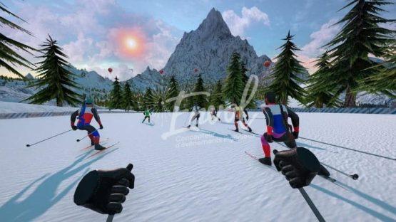 Simulateur de biathlon réalité virtuelle par Envol