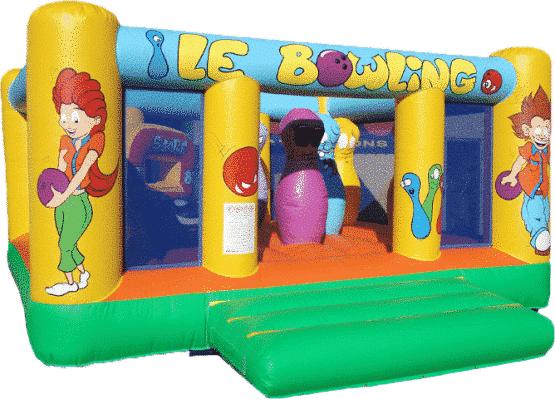 Château gonflable Bowling de taille moyenne