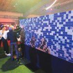 Animation soirée mur photomosaïque