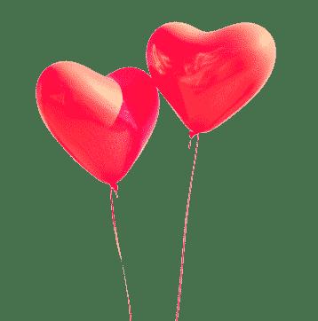 Distribution de coeurs gonflés à l'hélium